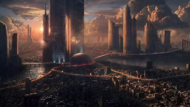 d-scene-futuristic-cityscape-futuristic-city-wallpaper